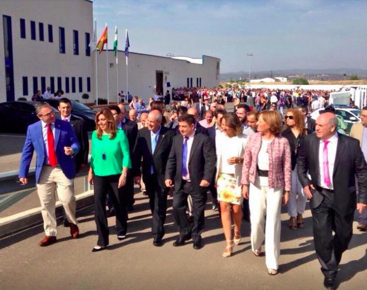 Susana Díaz preside la inauguración de las instalaciones de Picualia