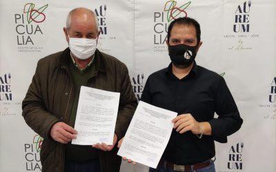 Firma de convenio con Restaurante El Álamo de Bailén para el futuro restaurante de Picualia